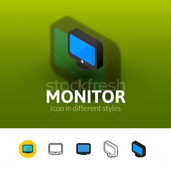 Supervisar icono diferente estilo color vector Foto stock © sidmay