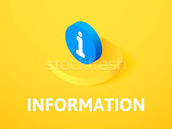 Información icono aislado color vector Foto stock © sidmay