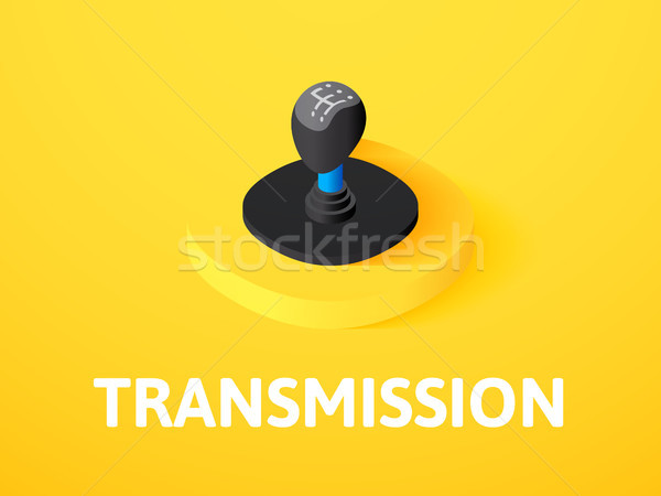 Transmission isometric icon, isolated on color background Stock photo © sidmay