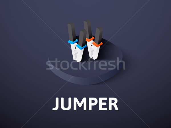 Jumper isometric icon, isolated on color background Stock photo © sidmay