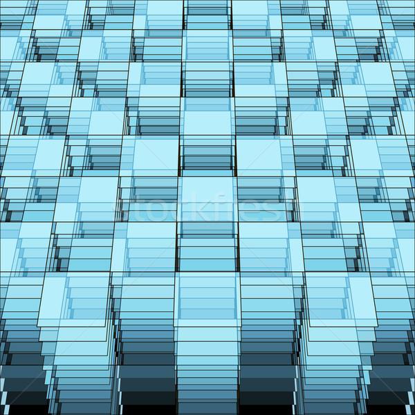 観点 幾何学的な テンプレート 透明な 広場 ストックフォト © sidmay