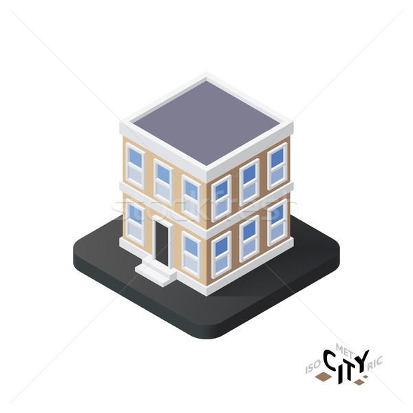 アイソメトリック アイコン 建物 市 インフォグラフィック ストックフォト © sidmay