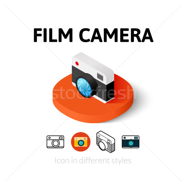 Film camera icon in different style Stock photo © sidmay
