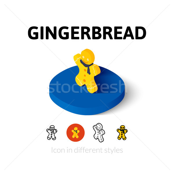 Stock photo: Gingerbread icon in different style