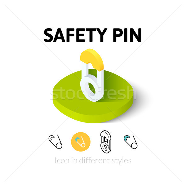 Safety pin icon in different style Stock photo © sidmay