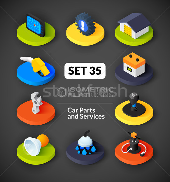 Isometric flat icons set 35 Stock photo © sidmay