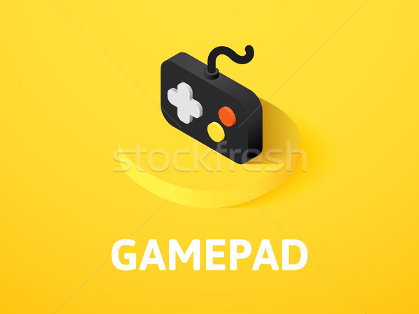 Gamepad isometric icon, isolated on color background Stock photo © sidmay