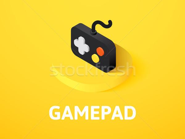 Gamepad isometrica icona isolato colore vettore Foto d'archivio © sidmay