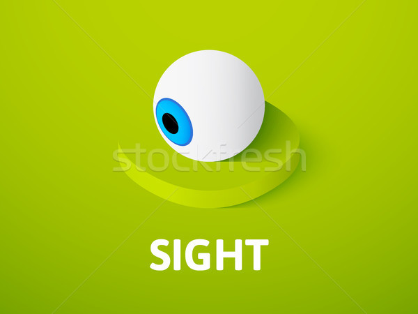 Sight isometric icon, isolated on color background Stock photo © sidmay