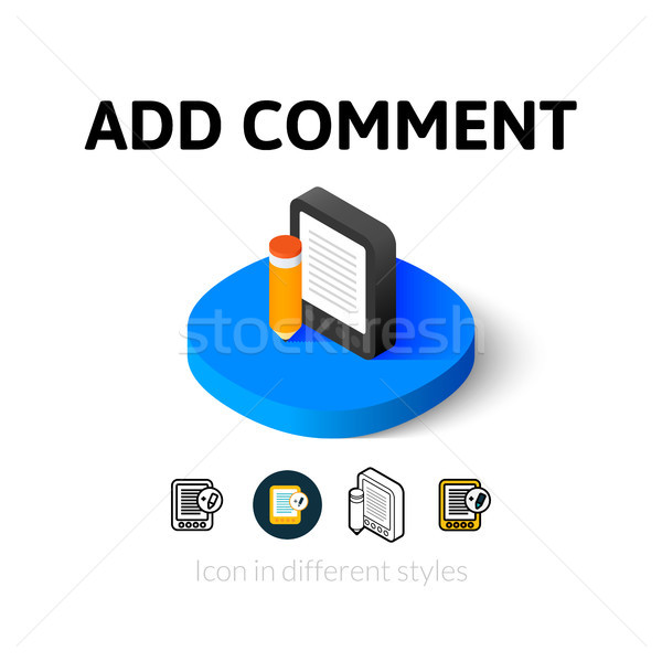 Add comment icon in different style Stock photo © sidmay