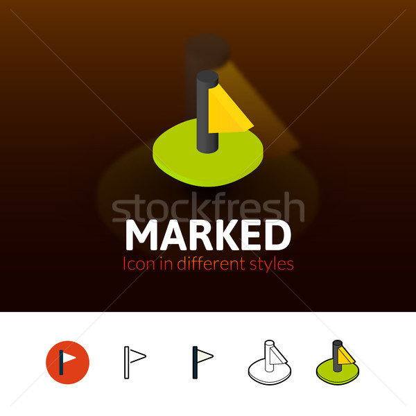 Marked icon in different style Stock photo © sidmay