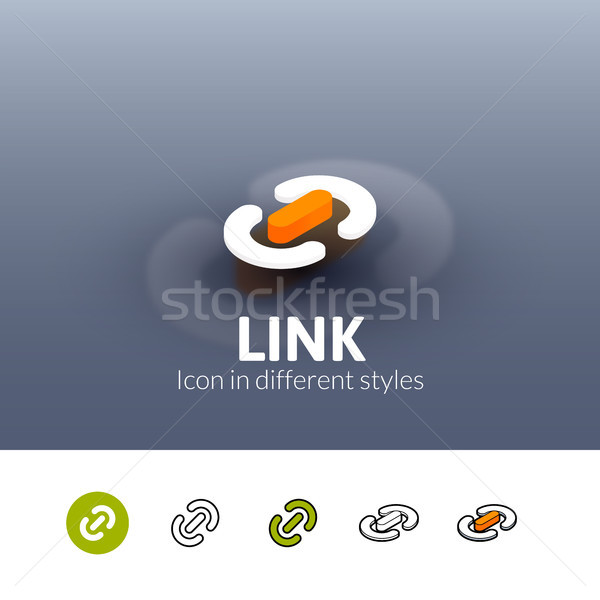 Link icon in different style Stock photo © sidmay