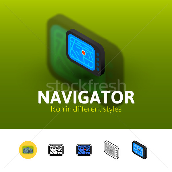 Navigator icon in different style Stock photo © sidmay