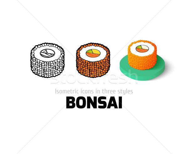 Bonsai ikon farklı stil vektör simge Stok fotoğraf © sidmay