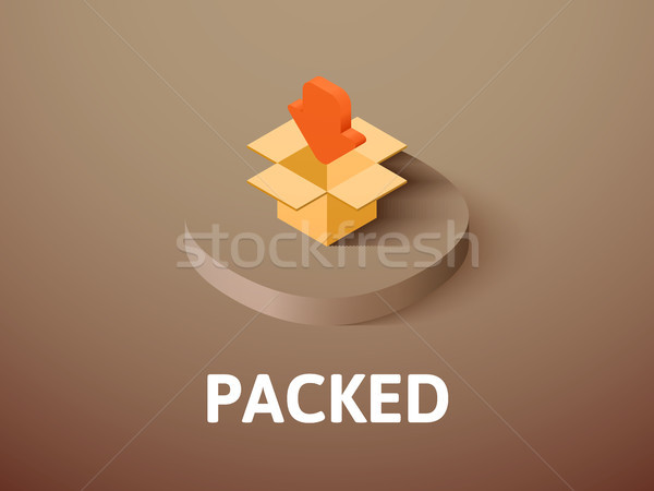 Packed isometric icon, isolated on color background Stock photo © sidmay