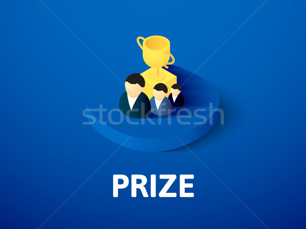 Prize isometric icon, isolated on color background Stock photo © sidmay