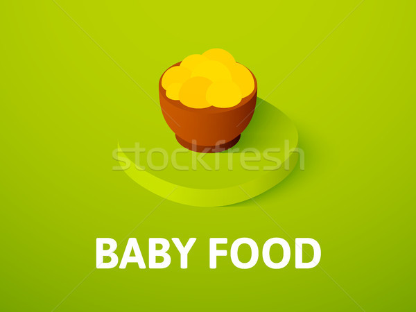 Baby food isometric icon, isolated on color background Stock photo © sidmay