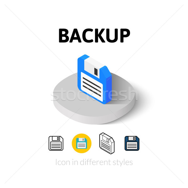Backup icon in different style Stock photo © sidmay