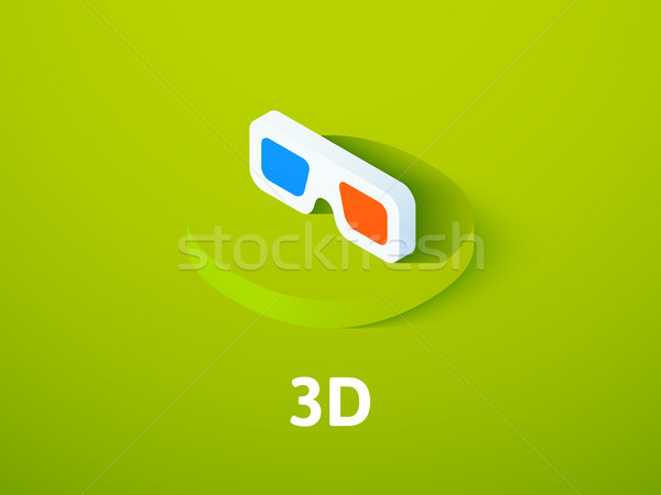 3D isometric icon, isolated on color background Stock photo © sidmay