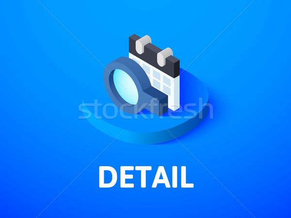 Foto stock: Pormenor · isométrica · ícone · isolado · cor · vetor