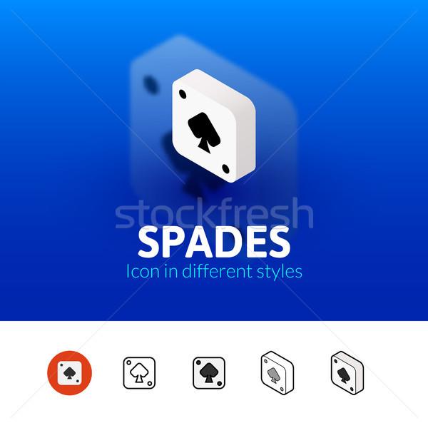 Spades ícone diferente estilo cor vetor Foto stock © sidmay