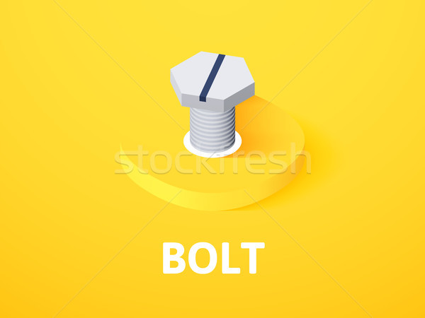 Bullone isometrica icona isolato colore vettore Foto d'archivio © sidmay