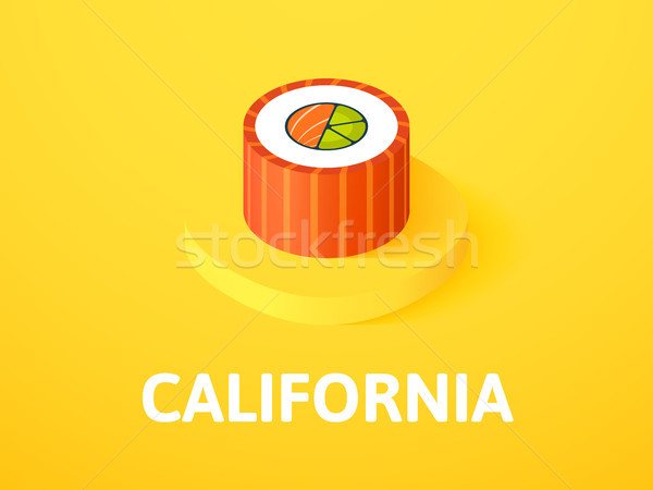 Stock photo: California isometric icon, isolated on color background