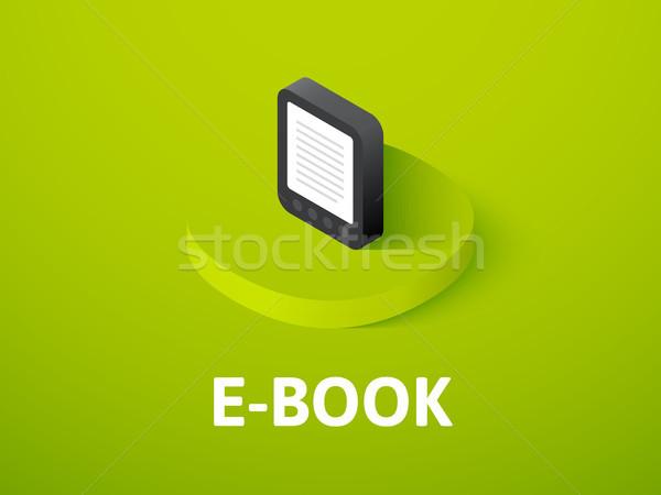 電子ブック アイソメトリック アイコン 孤立した 色 ベクトル ストックフォト © sidmay