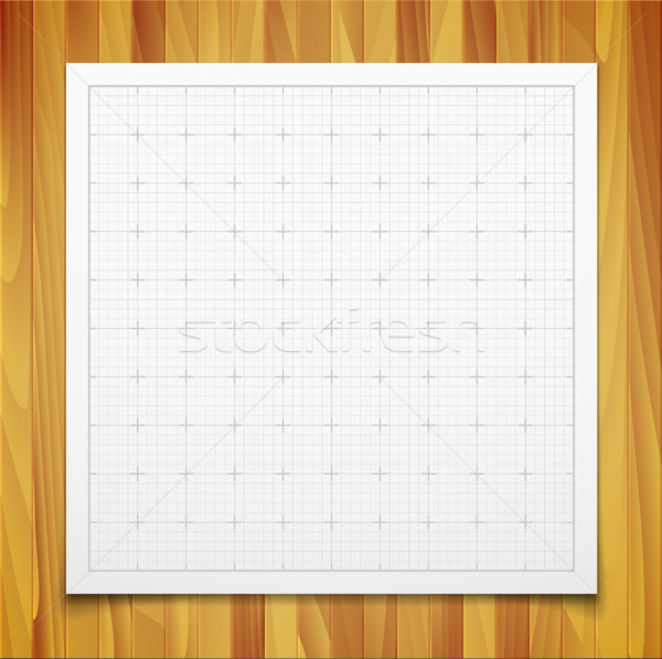 White isolated square grid with shadow isolated on wood texture Stock photo © sidmay