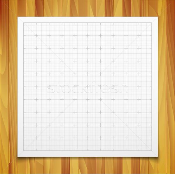 Blanche isolé carré grille ombre la texture du bois Photo stock © sidmay