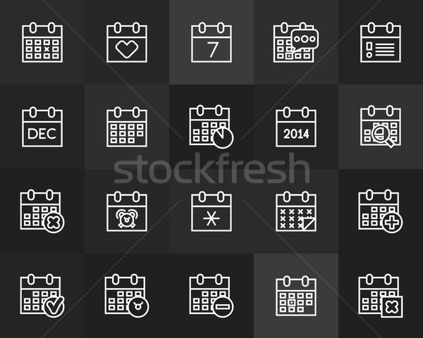 Contorno icone sottile design moderno line Foto d'archivio © sidmay