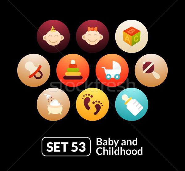 Bebê infância telefone ver comprimido Foto stock © sidmay