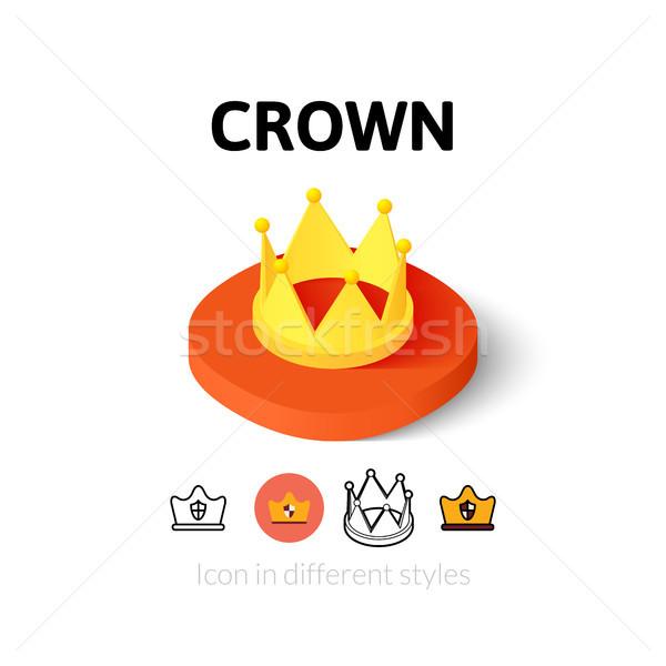 Foto d'archivio: Corona · icona · diverso · stile · vettore · simbolo