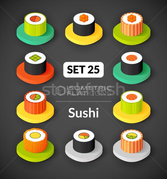 Stockfoto: Isometrische · 25 · iconen · 3D · pictogrammen