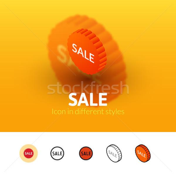 販売 アイコン 異なる スタイル 色 ベクトル ストックフォト © sidmay