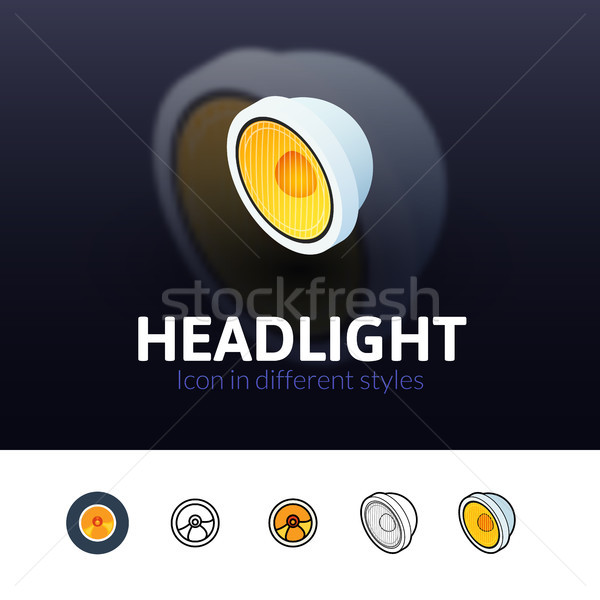 Headlight icon in different style Stock photo © sidmay