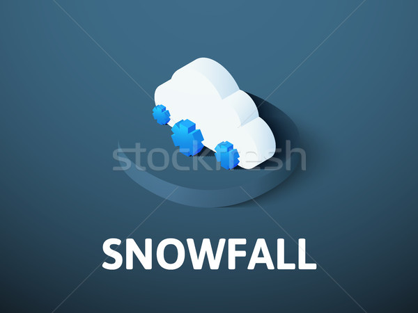 Snowfall isometric icon, isolated on color background Stock photo © sidmay