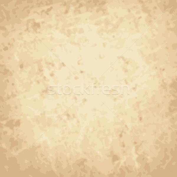 Vektör bağbozumu kazıyın kâğıt soyut kahverengi Stok fotoğraf © sidmay