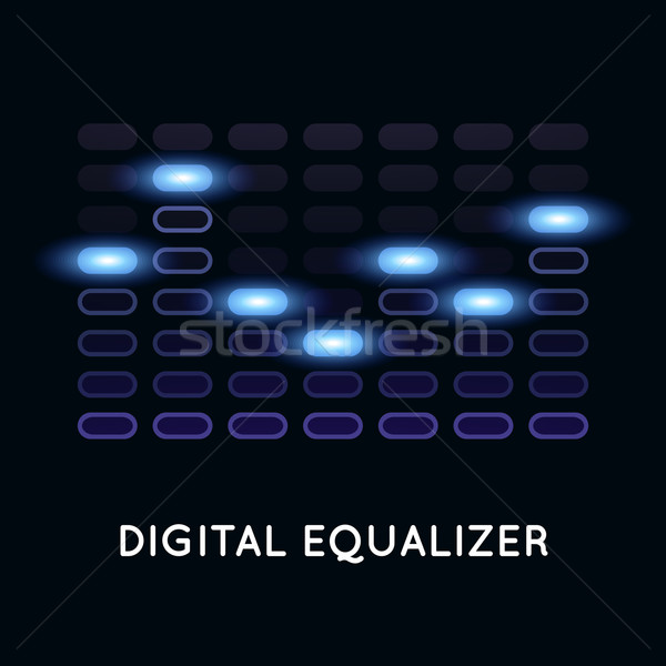 Digital dark equalizer with blue light Stock photo © sidmay