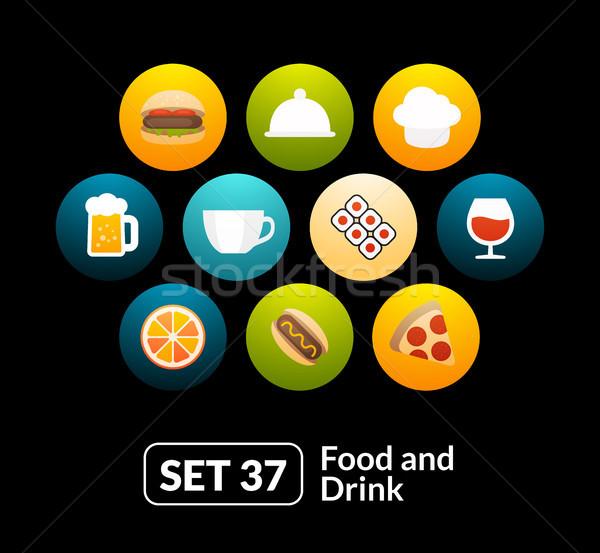 食品 喝 採集 電話 看 商業照片 © sidmay