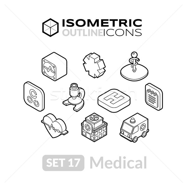 17 iconos 3D Foto stock © sidmay