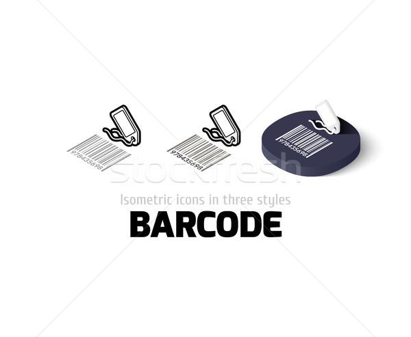 Barcode icône différent style vecteur symbole Photo stock © sidmay