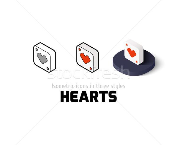 сердцах икона различный стиль вектора символ Сток-фото © sidmay