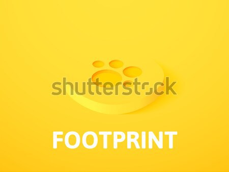 Footprint isometric icon, isolated on color background Stock photo © sidmay