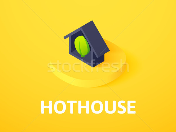 Stock photo: Hothouse isometric icon, isolated on color background