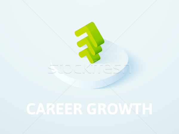 Career growth isometric icon, isolated on color background Stock photo © sidmay