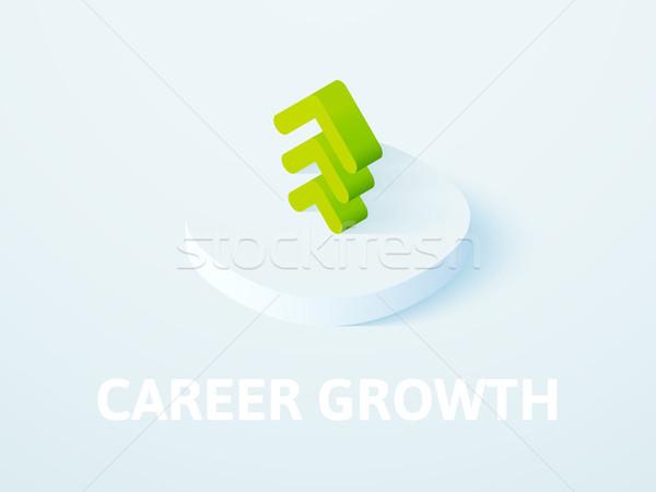 Karrier növekedés izometrikus ikon izolált szín Stock fotó © sidmay