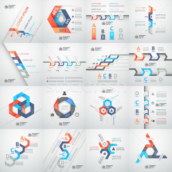 современных бизнеса шаг оригами стиль опции Сток-фото © sidmay