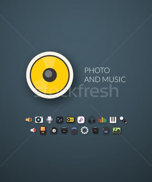 Terv modern márka arculat stílus háló Stock fotó © sidmay
