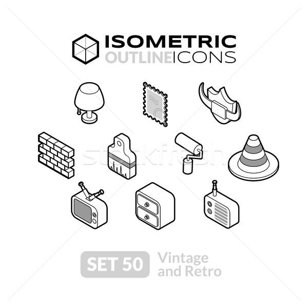 Isométrica 50 ícones 3D Foto stock © sidmay